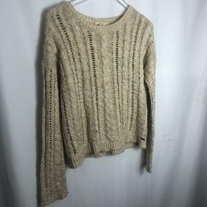 Denim And Supply Beige Crochet Knit sweater size Medium 0721